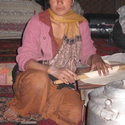 Lady making food
